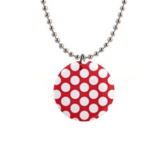 Red Polkadot Button Necklace by Zandiepants