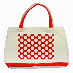 Red Polkadot Classic Tote Bag (red) by Zandiepants