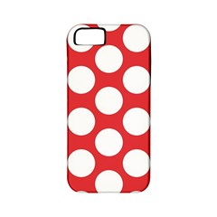 Red Polkadot Apple Iphone 5 Classic Hardshell Case (pc+silicone) by Zandiepants