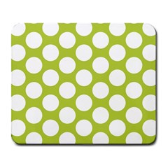 Spring Green Polkadot Large Mouse Pad (rectangle)