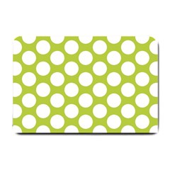 Spring Green Polkadot Small Door Mat by Zandiepants