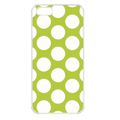 Spring Green Polkadot Apple Iphone 5 Seamless Case (white) by Zandiepants