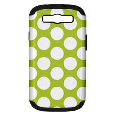 Spring Green Polkadot Samsung Galaxy S Iii Hardshell Case (pc+silicone) by Zandiepants