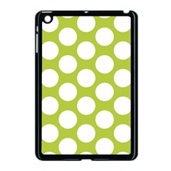 Spring Green Polkadot Apple Ipad Mini Case (black) by Zandiepants