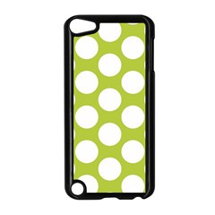 Spring Green Polkadot Apple Ipod Touch 5 Case (black) by Zandiepants