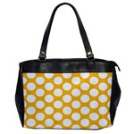 Sunny Yellow Polkadot Oversize Office Handbag (One Side) Front
