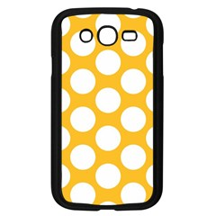 Sunny Yellow Polkadot Samsung Galaxy Grand Duos I9082 Case (black) by Zandiepants
