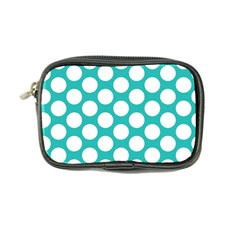 Turquoise Polkadot Pattern Coin Purse by Zandiepants