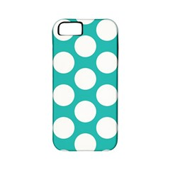 Turquoise Polkadot Pattern Apple Iphone 5 Classic Hardshell Case (pc+silicone) by Zandiepants