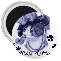 Miss Kitty Blues 3  Button Magnet by misskittys