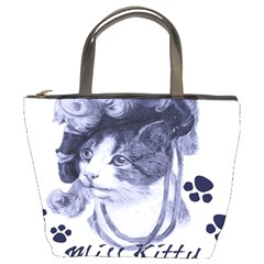 Miss Kitty Blues Bucket Handbag