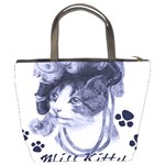 Miss Kitty blues Bucket Handbag Back