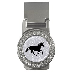 Unicorn On Starry Background Money Clip (cz) by StuffOrSomething