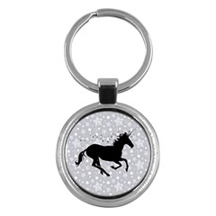 Unicorn On Starry Background Key Chain (round) by StuffOrSomething