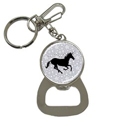 Unicorn On Starry Background Bottle Opener Key Chain by StuffOrSomething