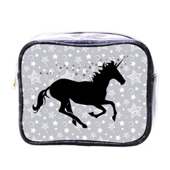 Unicorn On Starry Background Mini Travel Toiletry Bag (one Side) by StuffOrSomething