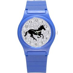 Unicorn On Starry Background Plastic Sport Watch (small) by StuffOrSomething