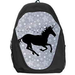 Unicorn On Starry Background Backpack Bag by StuffOrSomething