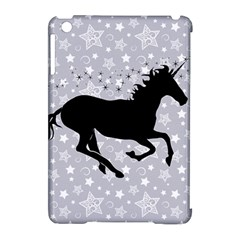 Unicorn On Starry Background Apple Ipad Mini Hardshell Case (compatible With Smart Cover) by StuffOrSomething