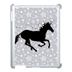 Unicorn On Starry Background Apple Ipad 3/4 Case (white) by StuffOrSomething