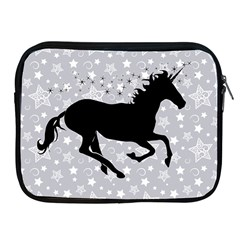 Unicorn On Starry Background Apple Ipad Zippered Sleeve by StuffOrSomething