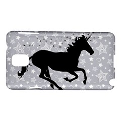 Unicorn On Starry Background Samsung Galaxy Note 3 N9005 Hardshell Case by StuffOrSomething