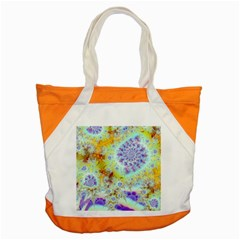 Golden Violet Sea Shells, Abstract Ocean Accent Tote Bag by DianeClancy