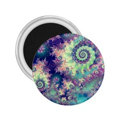 Violet Teal Sea Shells, Abstract Underwater Forest 2 25  Magnet