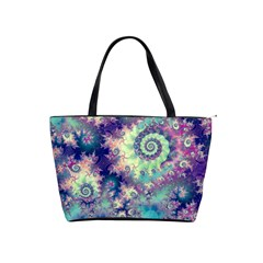 Violet Teal Sea Shells, Abstract Underwater Forest Classic Shoulder Handbag by DianeClancy