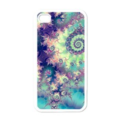 Violet Teal Sea Shells, Abstract Underwater Forest Apple Iphone 4 Case (white) by DianeClancy