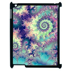 Violet Teal Sea Shells, Abstract Underwater Forest Apple Ipad 2 Case (black) by DianeClancy