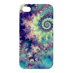 Violet Teal Sea Shells, Abstract Underwater Forest Apple Iphone 4/4s Premium Hardshell Case by DianeClancy