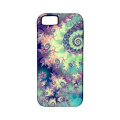 Violet Teal Sea Shells, Abstract Underwater Forest Apple Iphone 5 Classic Hardshell Case (pc+silicone) by DianeClancy