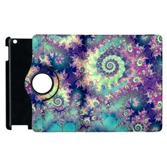 Violet Teal Sea Shells, Abstract Underwater Forest Apple Ipad 3/4 Flip 360 Case by DianeClancy