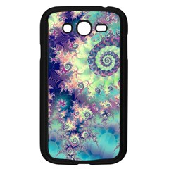 Violet Teal Sea Shells, Abstract Underwater Forest Samsung Galaxy Grand Duos I9082 Case (black) by DianeClancy
