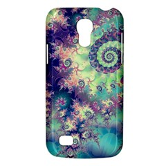 Violet Teal Sea Shells, Abstract Underwater Forest Samsung Galaxy S4 Mini (gt I9190) Hardshell Case  by DianeClancy
