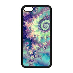 Violet Teal Sea Shells, Abstract Underwater Forest Apple Iphone 5c Seamless Case (black)