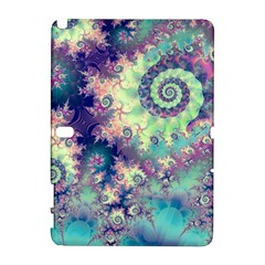 Violet Teal Sea Shells, Abstract Underwater Forest Samsung Galaxy Note 10 1 (p600) Hardshell Case by DianeClancy