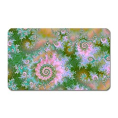 Rose Forest Green, Abstract Swirl Dance Magnet (rectangular) by DianeClancy