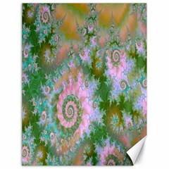 Rose Forest Green, Abstract Swirl Dance Canvas 18  X 24  (unframed) by DianeClancy