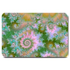 Rose Forest Green, Abstract Swirl Dance Large Door Mat by DianeClancy