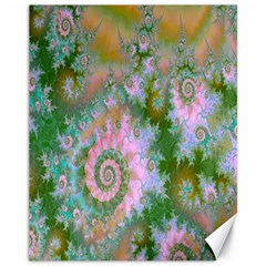 Rose Forest Green, Abstract Swirl Dance Canvas 11  X 14  (unframed) by DianeClancy