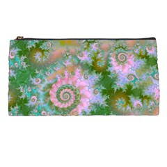 Rose Forest Green, Abstract Swirl Dance Pencil Case by DianeClancy
