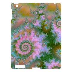 Rose Forest Green, Abstract Swirl Dance Apple Ipad 3/4 Hardshell Case by DianeClancy