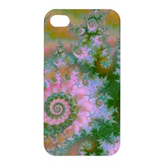 Rose Forest Green, Abstract Swirl Dance Apple Iphone 4/4s Premium Hardshell Case by DianeClancy