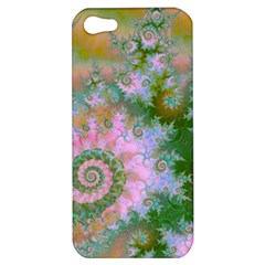 Rose Forest Green, Abstract Swirl Dance Apple Iphone 5 Hardshell Case by DianeClancy