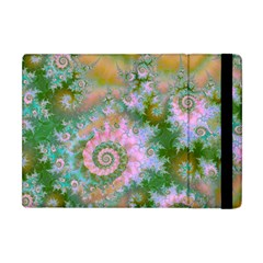Rose Forest Green, Abstract Swirl Dance Apple Ipad Mini Flip Case by DianeClancy