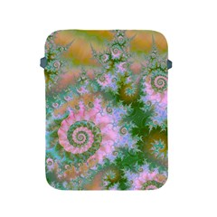 Rose Forest Green, Abstract Swirl Dance Apple Ipad Protective Sleeve by DianeClancy