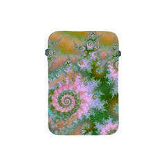 Rose Forest Green, Abstract Swirl Dance Apple Ipad Mini Protective Sleeve by DianeClancy