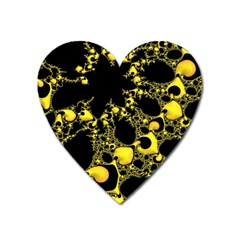 Special Fractal 04 Yellow Magnet (heart) by ImpressiveMoments